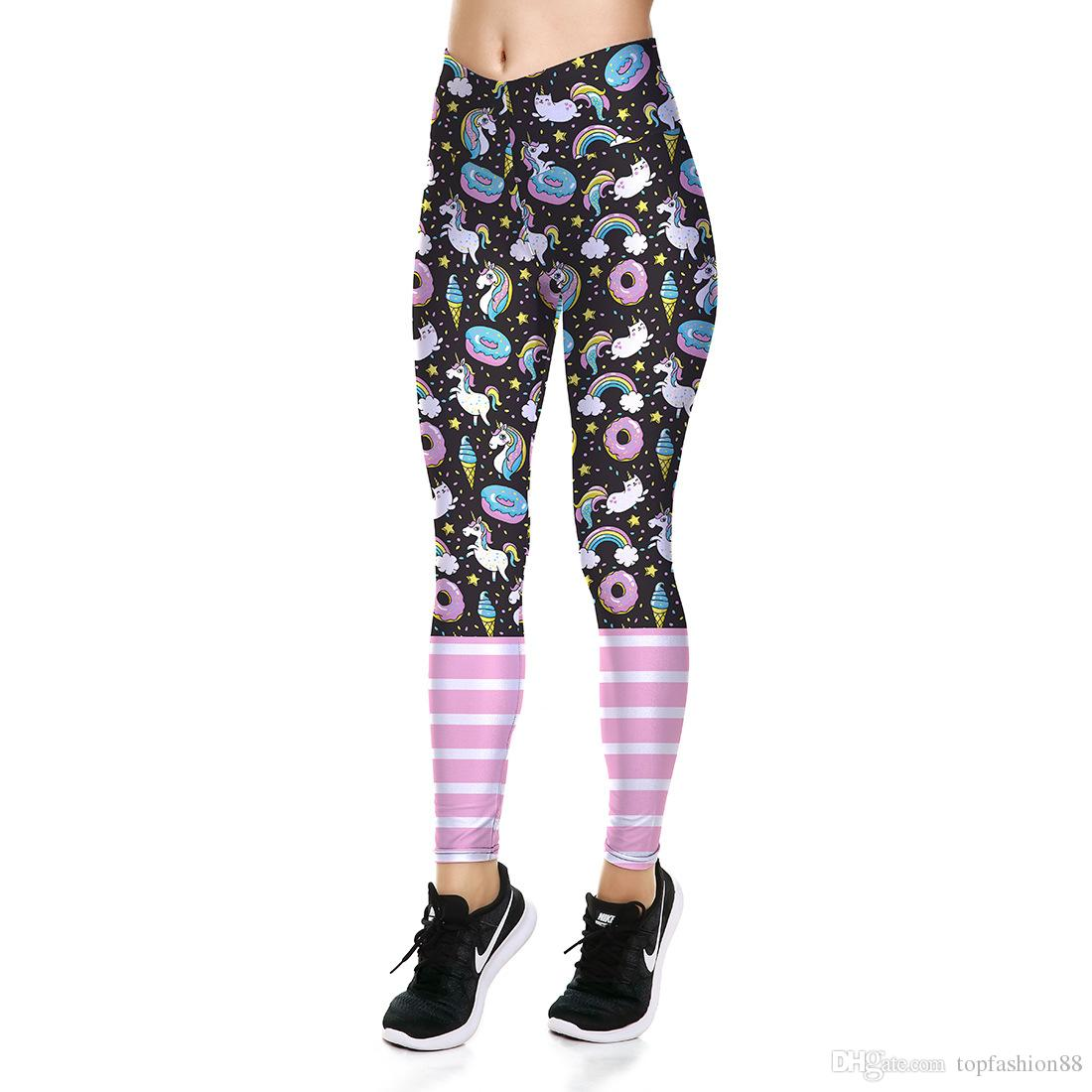 f7c93e4337e9c 2019 Womens High Waist Sexy Fitness Slim Leggings Trousers For Woman  Unicorn Print Workout Jogger Yoga Sports Elastic Skinny Pants From  Wodedipan1977, ...