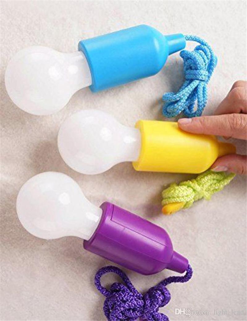 Farbwechsel LED Zugschnur Licht Heimwerker Hängelampen Multi Farbe Birne LED Kinder Zelt Dekor tragbare Hängelampen für Schlafzimmer