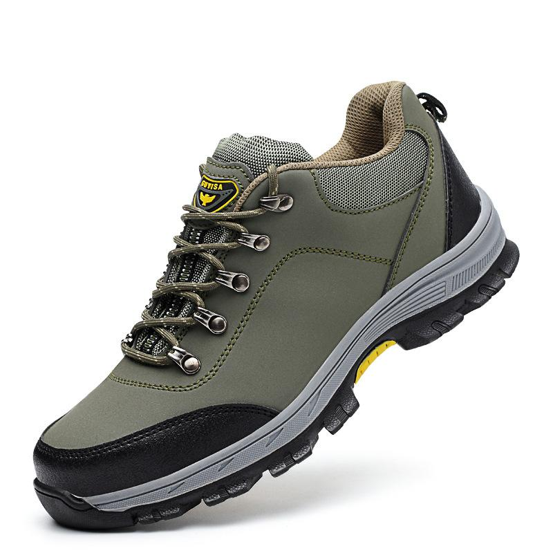 Men's Shoes Good Fine Zero Men Big Size 46 Spring Autumn Boots Work Safety Shoes Steel Toe Cap For Anti-smash Puncture Proof Protective Footwear