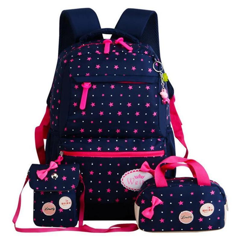 Backpack For Girls Kids School Bags Schoolbag Large Capacity Dot