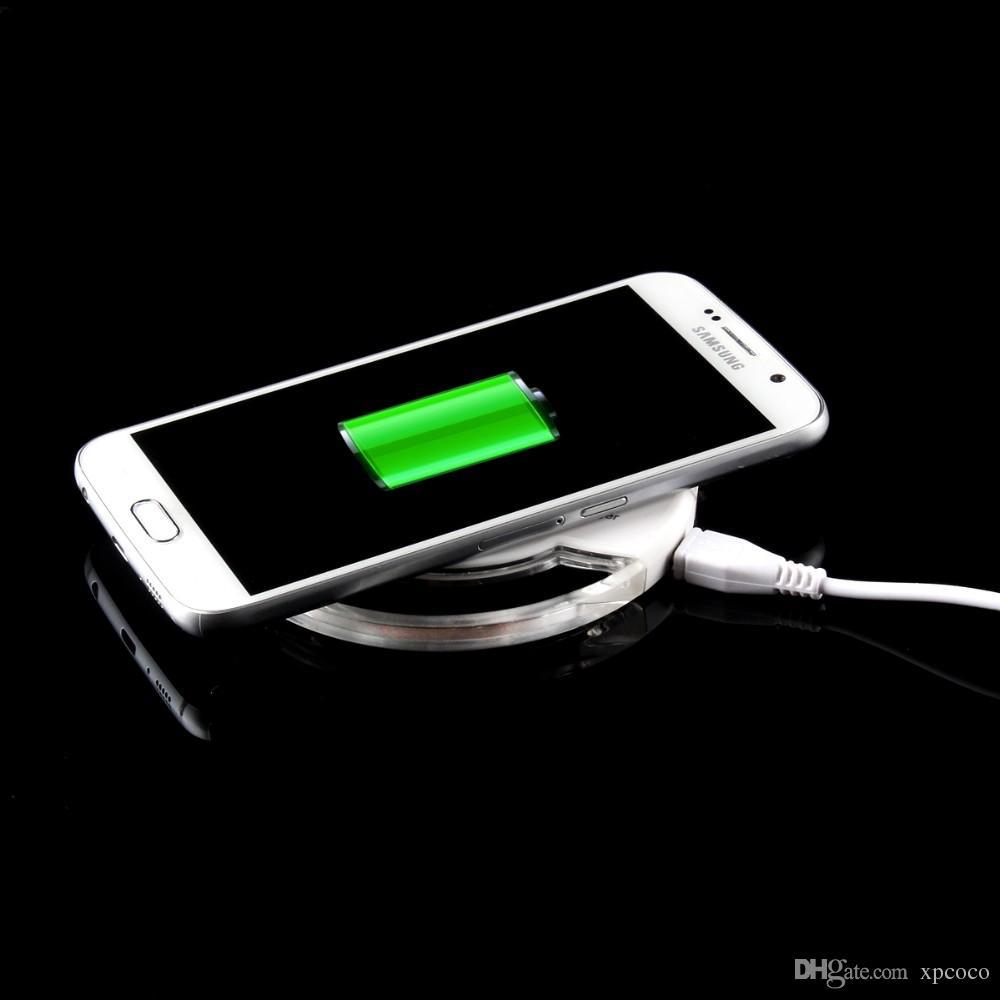 La carga rápida del cargador inalámbrico más nuevo del qi 2017 para iPhone xy el teléfono móvil de Samsung 5V / 2000mAH 9V / 1600mAH