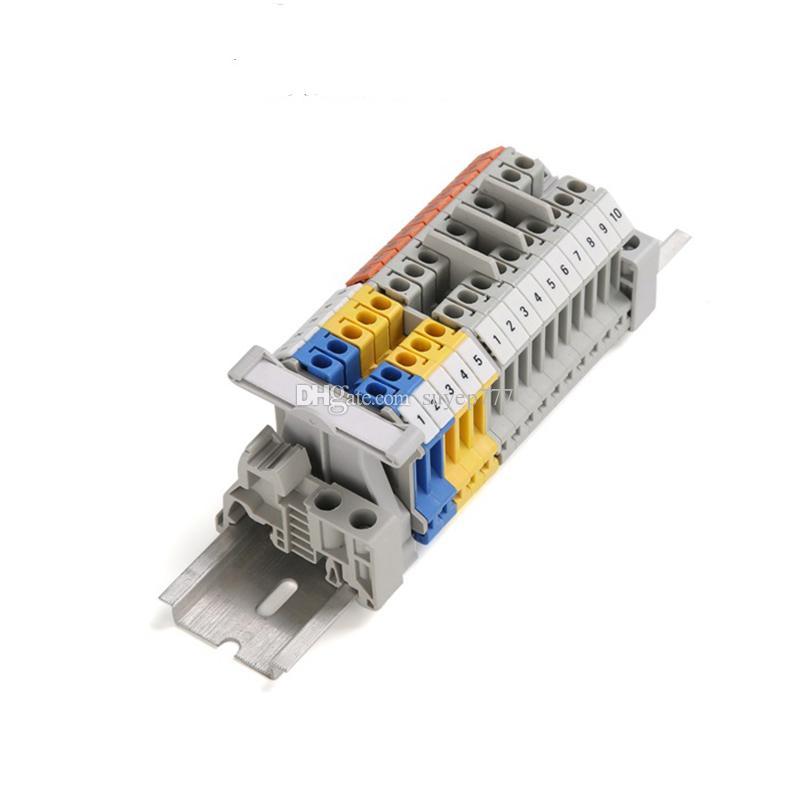 100 ADET ZB5 Numaraları UK3N Din Ray Terminali Blokları Makinesi Şeritleri Etiket