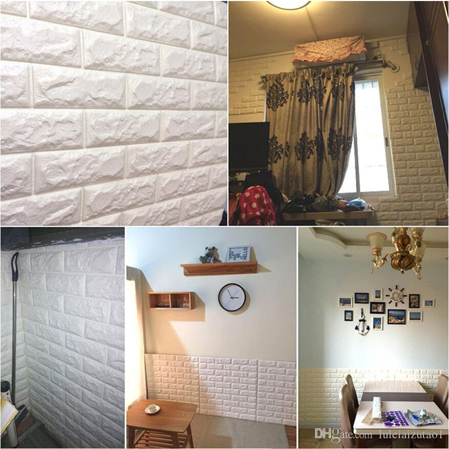 3d wall stickers home decor wallpaper diy wall brick cover wallcover