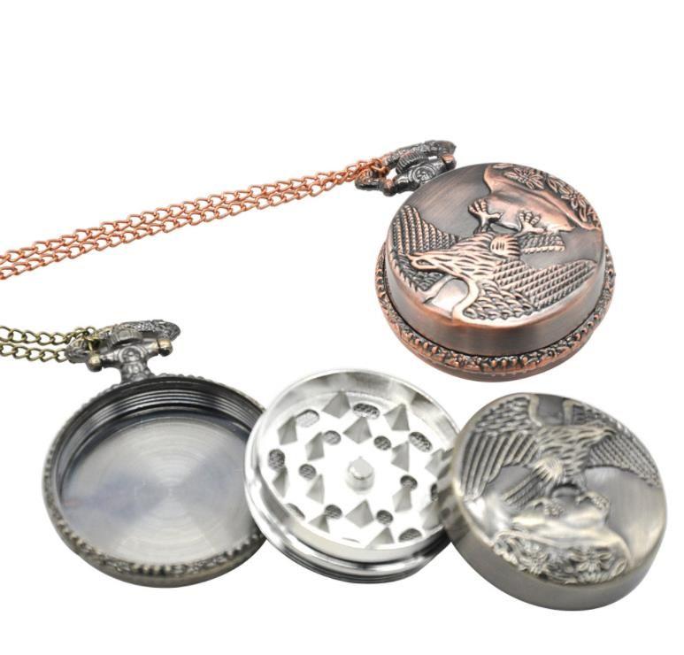 Metal cep saati, Kartal duman kesici, 3 seviye cep saati, duman değirmeni, hayvan değirmeni.