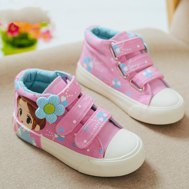 16388b8d6ba6 2018 Spring Autumn Children Canvas Shoes Girls Fashion Sneakers High Baby  Casual Shoes Breathable Princess Shoes Order Kids Shoes Online Best Kid  Shoes From ...
