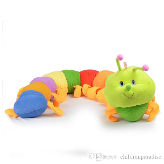 New Hot 50 cm Caterpillar hold pillow Toys Popular Colorful Inchworm Soft Lovely Developmental Toys