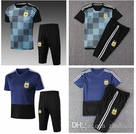 23aaf827eb8 2019 2018 World Cup Argentina MESSI DYBALA DI MARIA AGUERO Soccer Uniform  National Team Football Training Wear Jersey From Zhuhao2