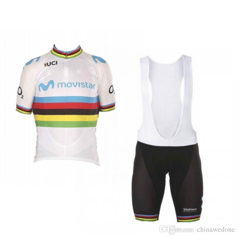 fc1135e10 2018 Uci World Champion Alejandro Valverde Rainbow Cycling Jersey Kits  Short Sleeve Bike Racing Ropa Ciclismo GEL Pad Bib Shorts Custom Bike  Jerseys ...