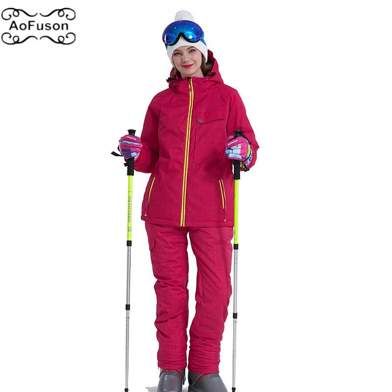 e5e7fb3af Snowboard Ski Suit Jacket Pants Warm Breathable Waterproof Winter ...