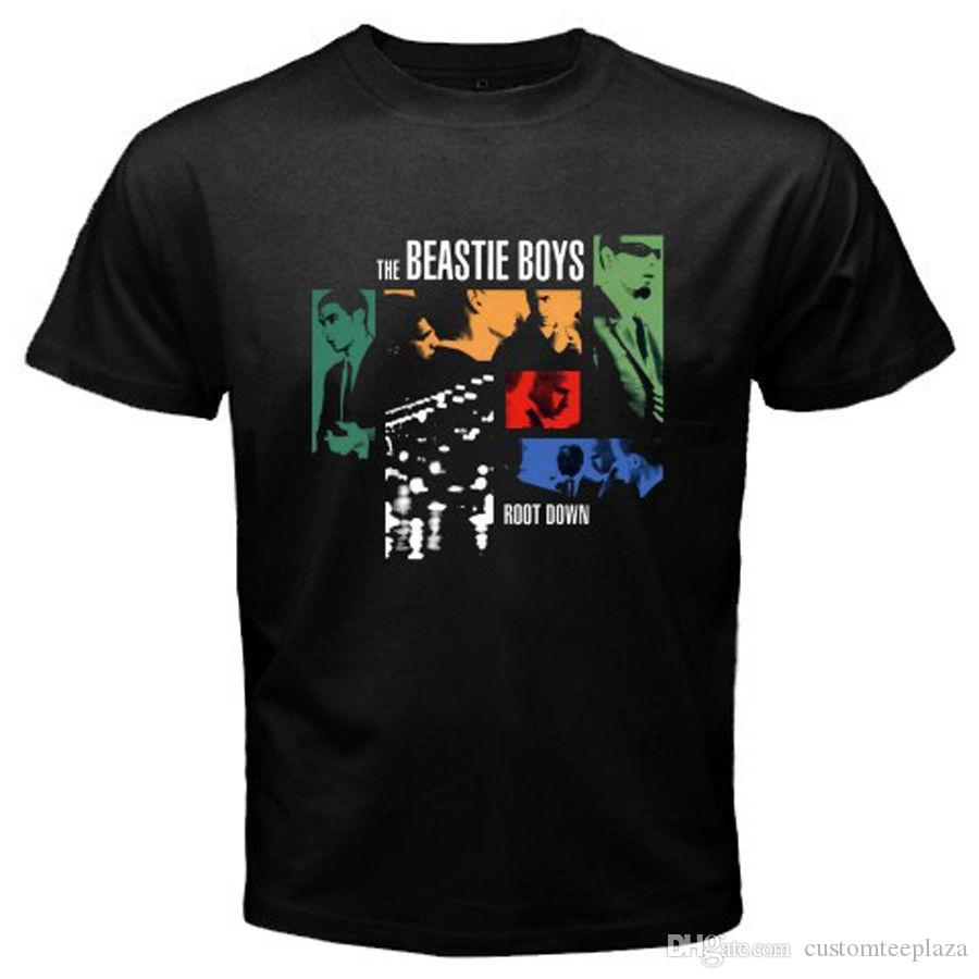 New Beastie Boys *Root Down Rap Hip Hop Music Men's Black T-Shirt Size S To 3Xl T Shirt Men Boy Fashion Short