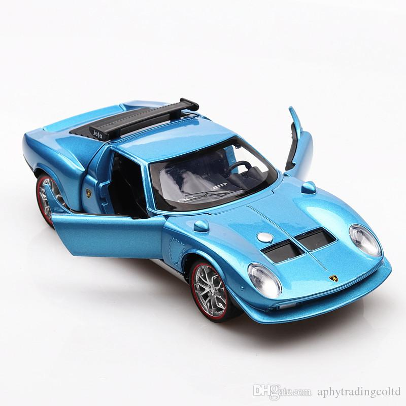 2019 1966 Retro Lamborghini Miura Diecast Alloy Pull Back Car Toy