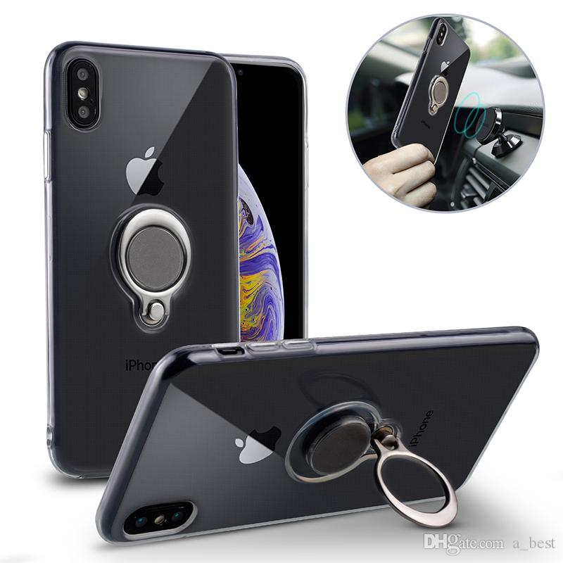 f449179524f Metal Ring Bracket Soft TPU Case For IPhone XS Max X 8 Plus Magnetic Car  Stand Back Cover Holder Buckle Xr 7 Plus Customized Cell Phone Cases Best  Cell ...