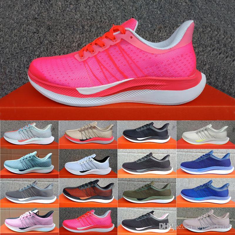 quality design 07618 10a91 Acheter 2018 Nike Air Zoom Mariah Flyknit Racer Nouveau Zoom Pegasus Turbo  Vert Rouge Noir Blanc Baskets Maille Femmes React ZoomX Vaporfly Pegasus 35  ...