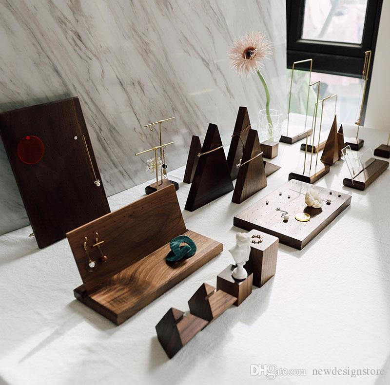 Exhibition Stand Nature : Wooden jewelry display stand nature woode stand earrings ring