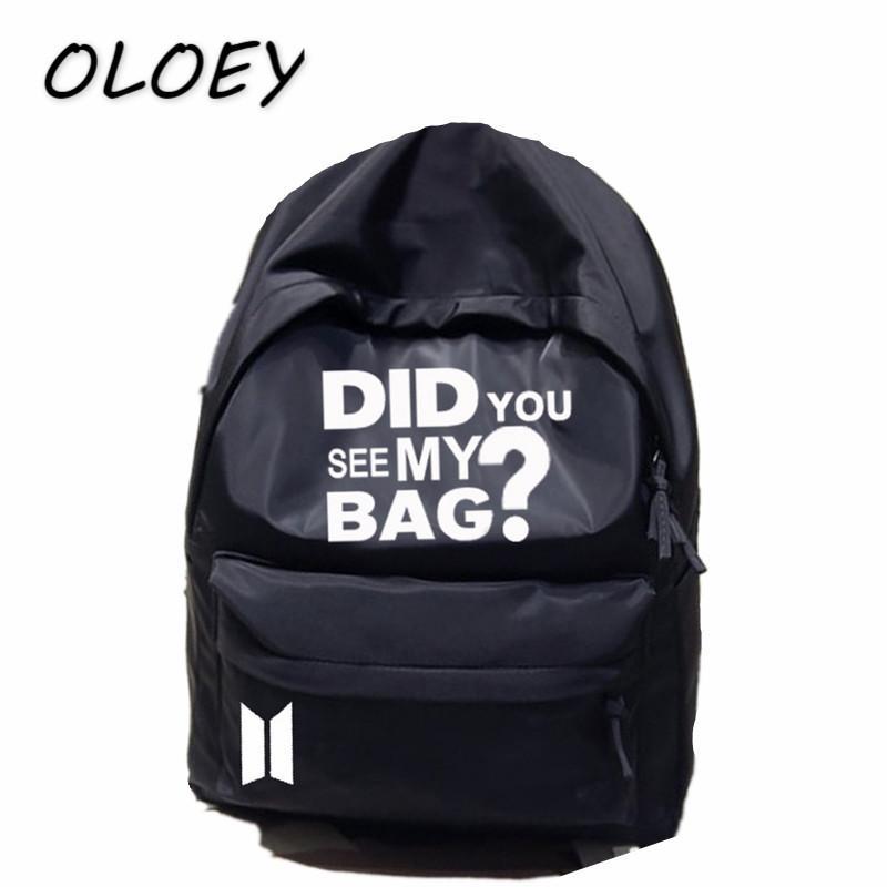 BTS Mochila Compre Mi Bangtan Corea Bag Bolsa ¿Has Star Boys Visto HZSSqd
