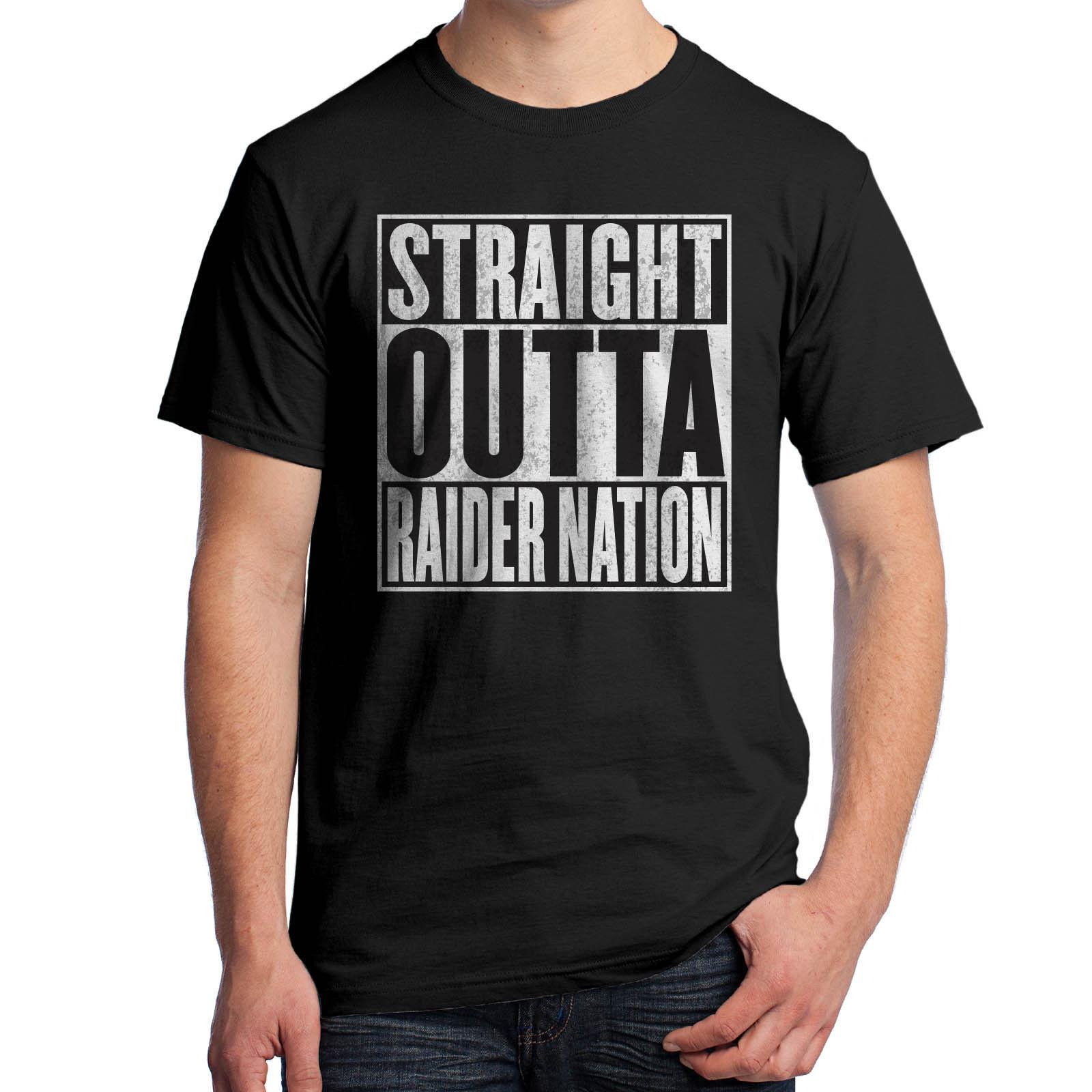 1dcf1bef Straight Outta Raider Nation T-Shirt Oakland Football California AC DC  1882Funny free shipping Unisex Casual gift