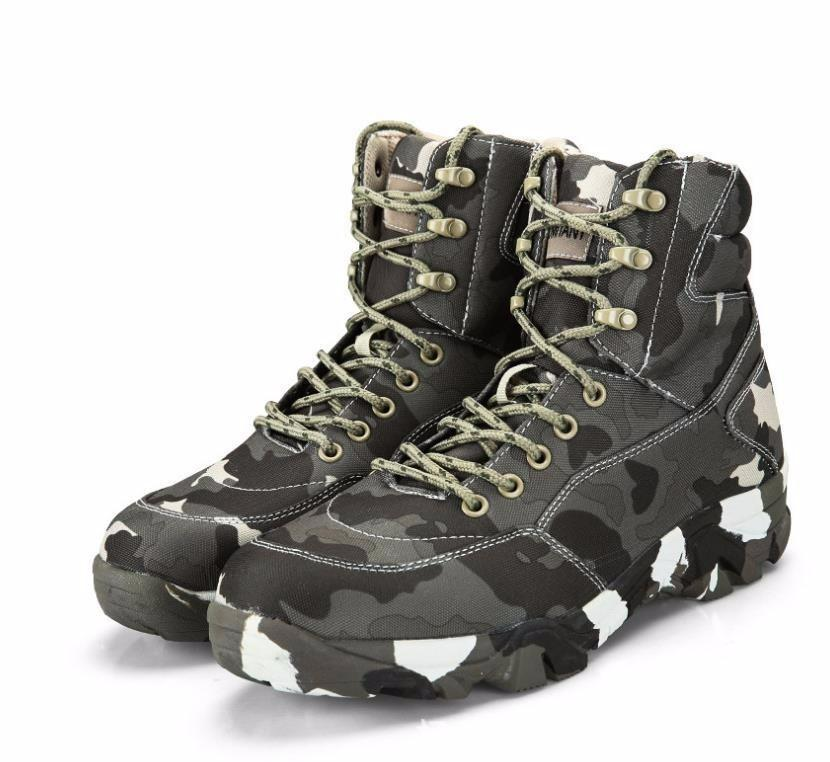 503f5bd46e8 Men Hiking Shoes Leather Tactical Army Boots Outdoor Outventure Trekking  Sneakers Men Ankle Military Comfortable Shoes combat boots