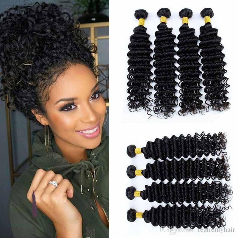 Peruvian Human Hair Bundles Deep Wave Unprocessed Peruvian Hair Weave  Bundles Natural Color Non Remy Hair Extensions Can Buy 4 Bundles Black Hair  Weaving ... a35ee3dc6622