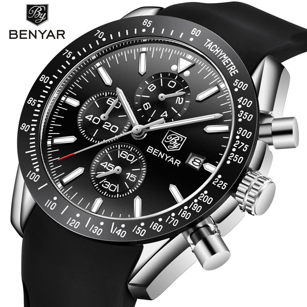 Compre Reloj Hombre 2018 BENYAR Relojes De Moda Hombres Reloj De Cuarzo  Marca De Lujo Cronógrafo Deporte Reloj Hombre Reloj De Pulsera Relogio  Masculino A ... c6239be44ea3