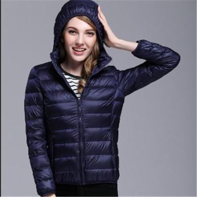 Ultra Thin Down Jacket Winter Outdoor Coat Ladies Sportswear Hoodies ... 1c6e781fab