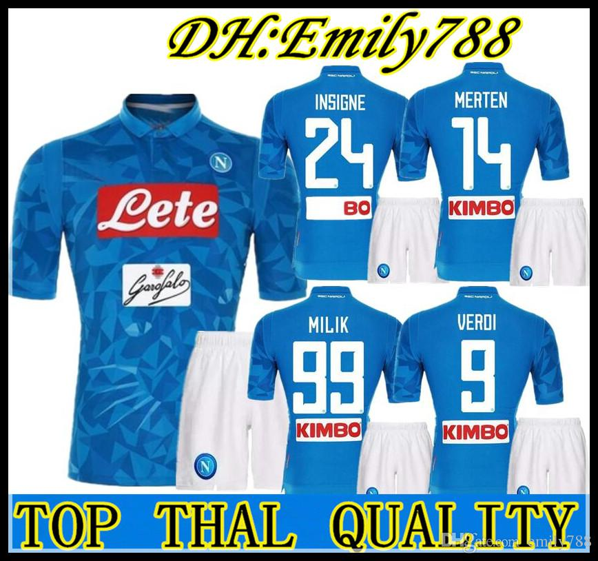 652295d88 2019 Adult Suit 18 19 Napoli Soccer Jersey Home 2018 2019 Naples ZIELINSKI  HAMSIK INSIGNE MERTENS CALLEJON PLAYER ROG Football Shirts Adult Kit From  ...