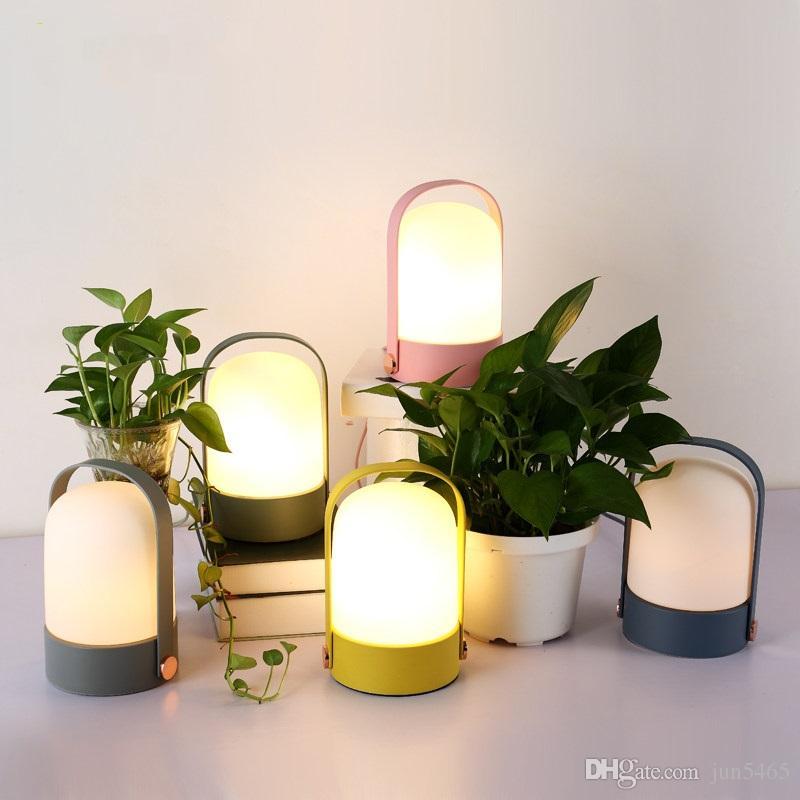 Scandinavian Modern Simple Table Lamps Creative Desk Bedroom Bedside Study  Makkalon Table Lamps Led Glass Dimming
