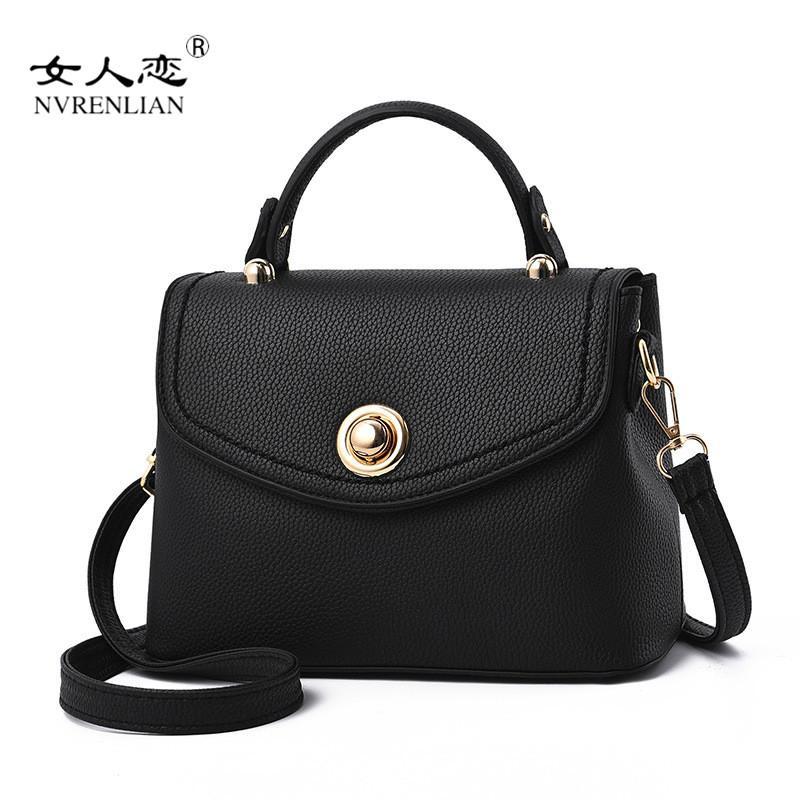 NVRENLIAN 2018 Women Messenger Bags Female PU Leather Handbags Solid Women  Famous Brands Shoudler Bag Totes Bolsa Feminina Top-Handle Bags Cheap Top- Handle ... db9af03563417