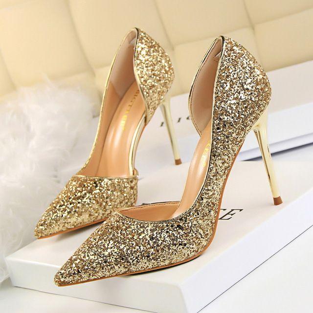9317fbc957425f Women Pumps Bling High Heels Women Pumps Glitter High Heel Shoes ...