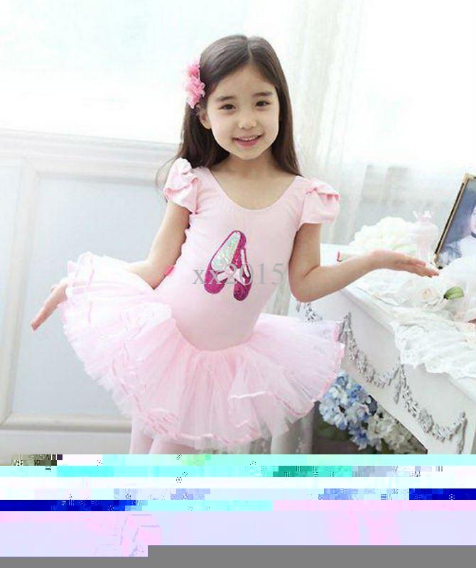 9283c22af0c6 Wholesale-New Girls Ballet Tutu Children Dance Costume Kids Fancy Birthday  Party Leotard Skirt Dance Dress SZ 5-8 Black Free Shipping