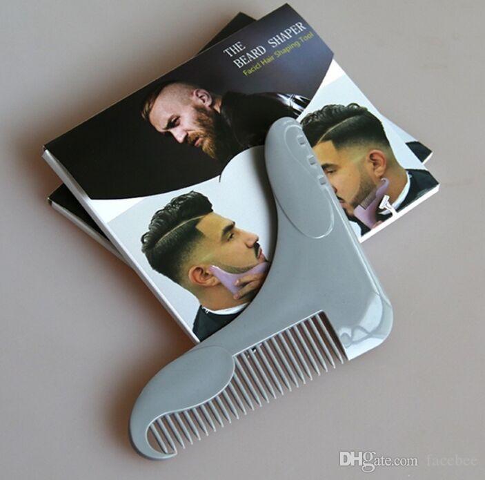 Le peigne professionnel Beard Shaper crée les barbes Symmtry Keep qui gardent des lignes de joue et des lignes de cou parfaites, un outil de mise en forme des cheveux de facicl
