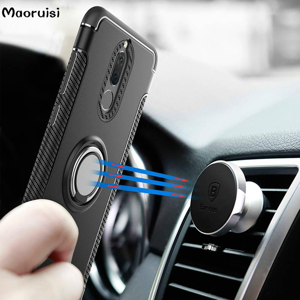 quality design 31f13 eeaa0 Hybrid Case for Huawei Mate 10 Lite Car Magnetic Holder Shockproof Cover  for Huawei Nova 2i Honor 9i Phone Cases back cover