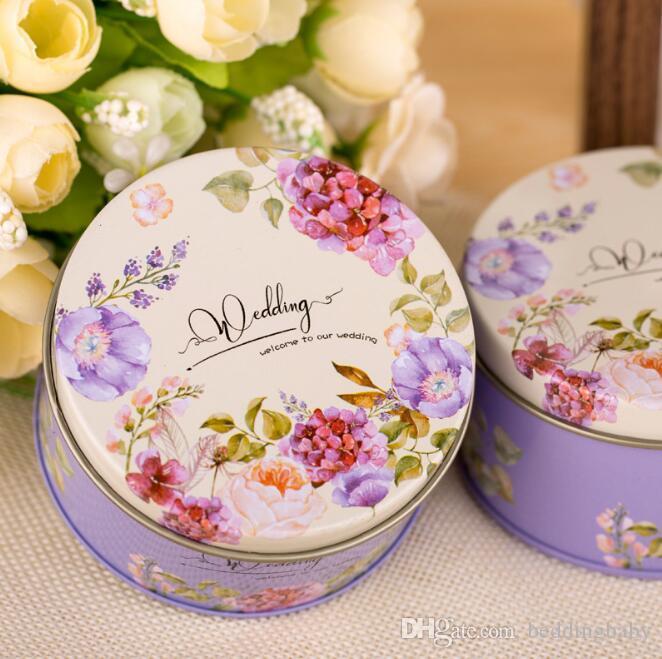 Flor Impresso Estilo Chinês Caixa De Lata De Açúcar Kawaii Cosméticos Trinket Organizador Mini Recipiente Para Chá Caixa de Moeda Pílula
