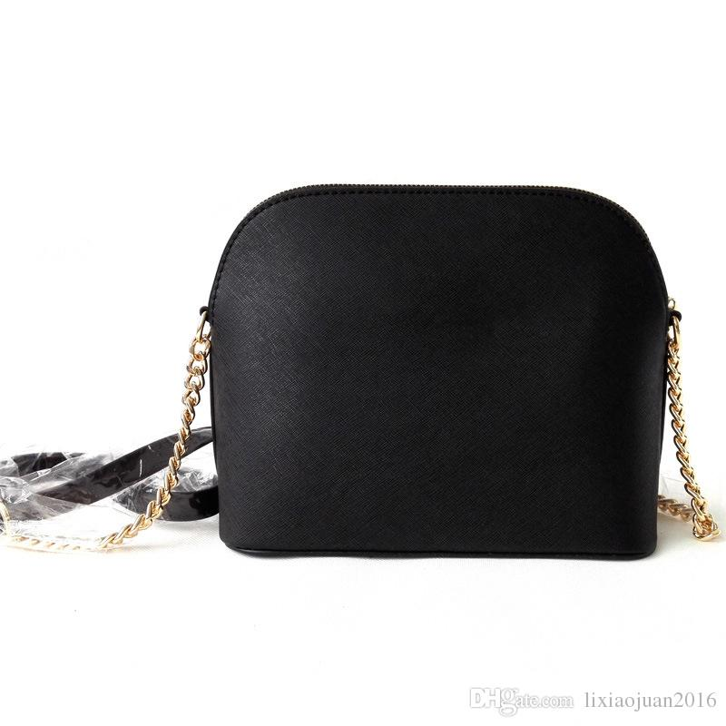 Freies verschiffen 2018 marke mode luxus designer handtaschen shell tasche kreuz muster kunstleder kette tasche schulter Messenger bag