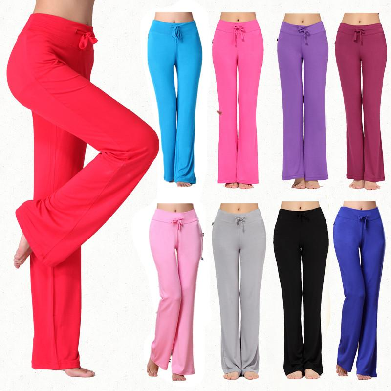 f0224141f8d91d 2019 Yoga Pants Women High Waist Loose Sports Pants Ladies Gym Leggings S  4XL Pilates Dance Running Fitness Trousers Plus Size From Longanguo, ...
