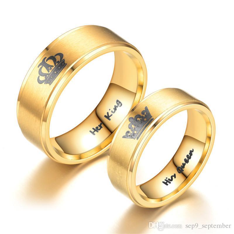 Wedding Rings King Queen Stainless Steel Rings For Men Women New