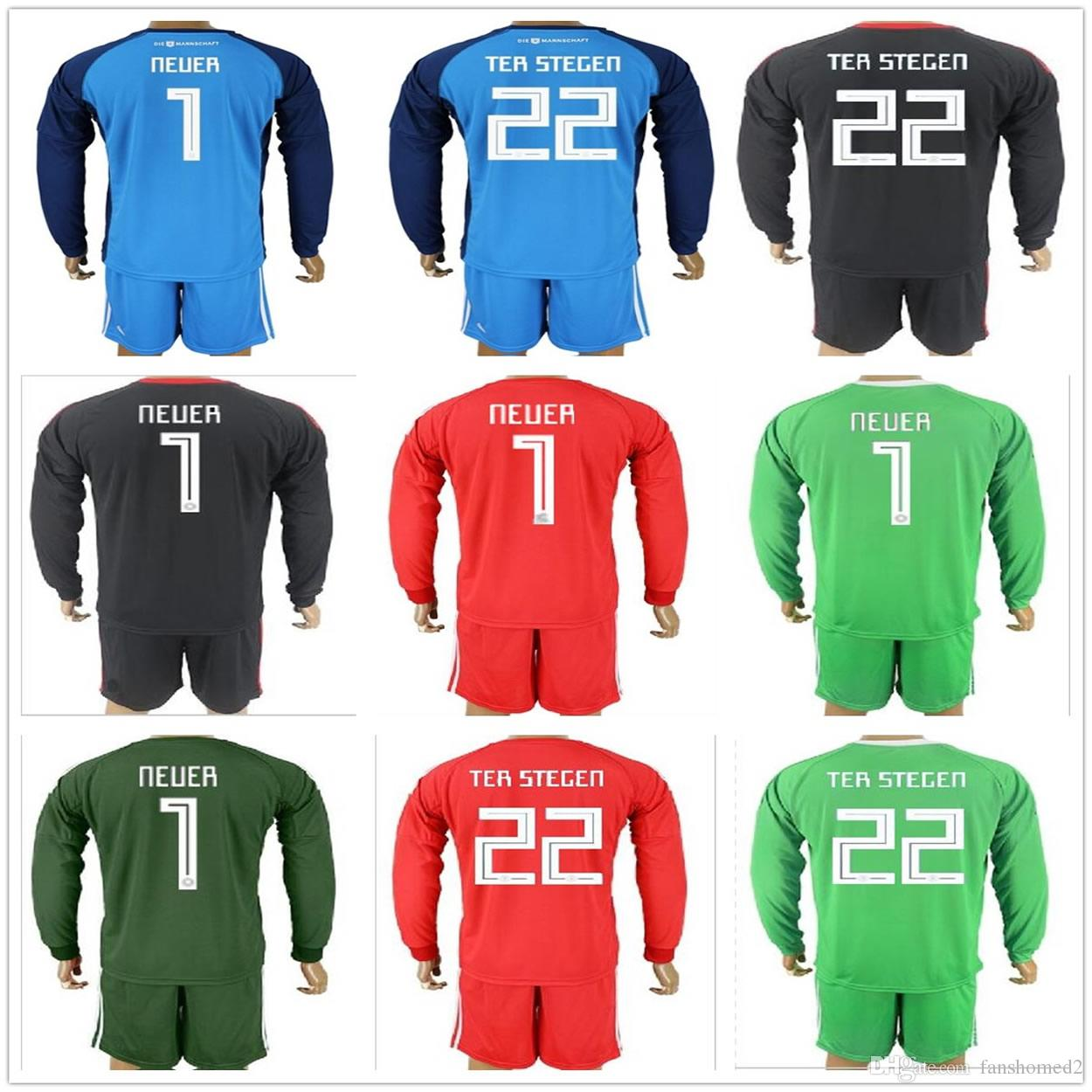 f14c78c25ea ... low cost online cheap 2018 world cup germany long goalkeeper jersey  neuer soccer sets 1 manuel ...