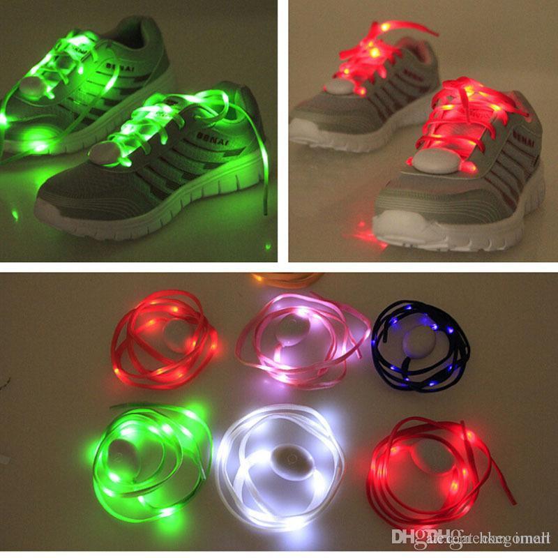 Best LED Shoelaces Fashion Light Up Casual Sneaker Shoe Laces Disco Party Night Glowing Shoe Strings Hip-hop Dance LED Shoelace=