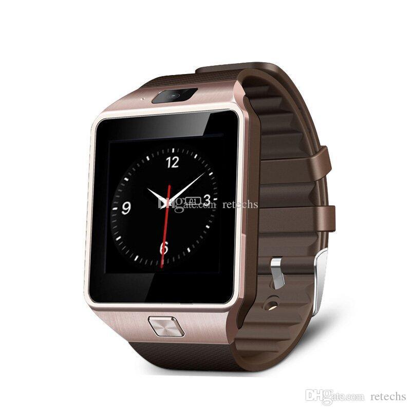 DZ09 Wristbrand GT08 U8Smartwatch Bluetooth Android SIM montre de téléphone portable intelligente avec caméra peut enregistrer le paquet de détail état de sommeil