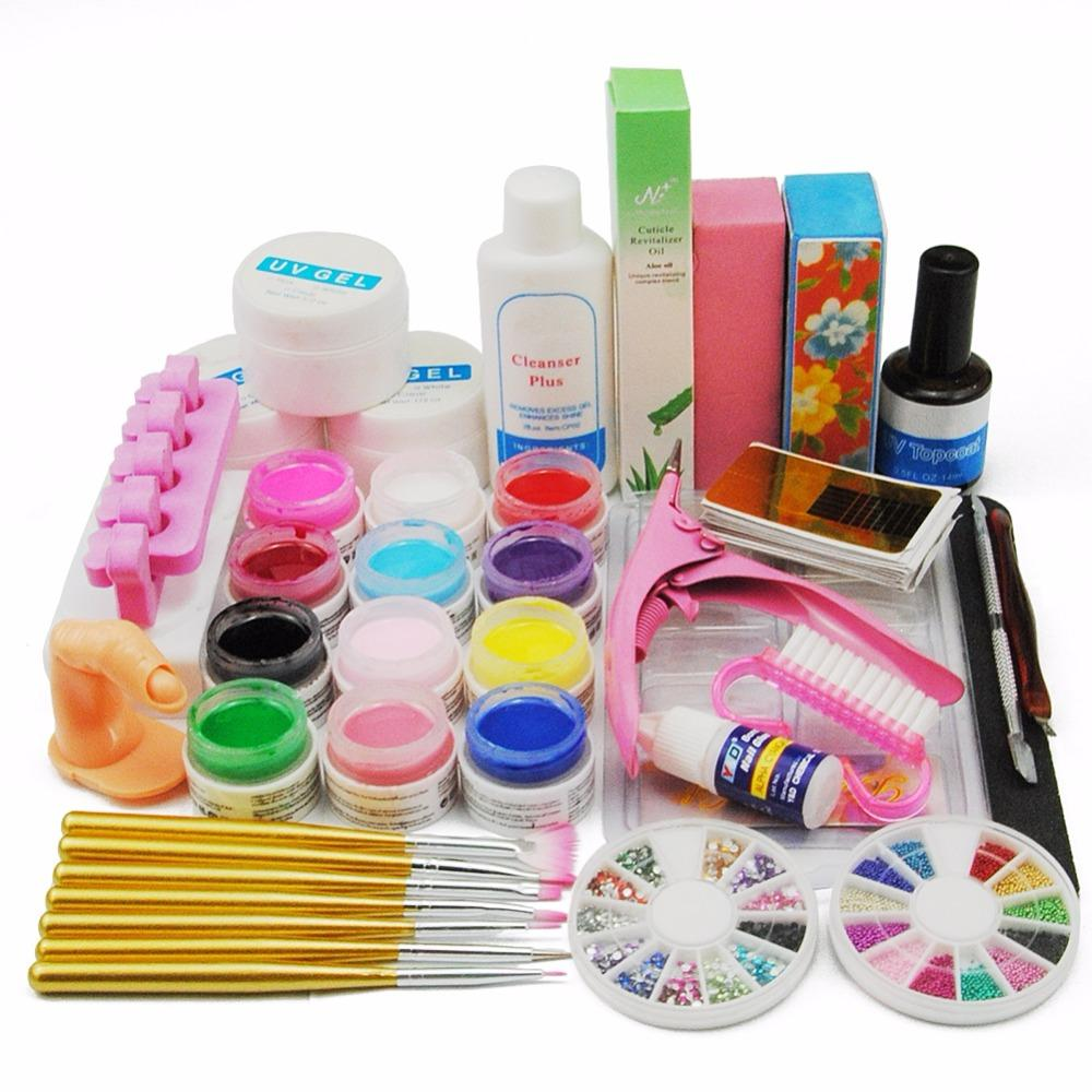 Art 12 Uv Gel Polish Nail Art With 36w Nail Dryer Lamp Uv Gel ...