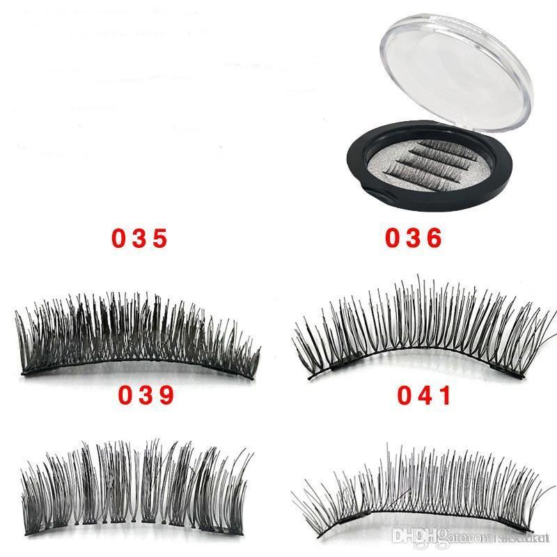 8257e174c40 HOt 3D Double Magnet False Eyelashes 2 Magnets Magnetic Fake Eye ...