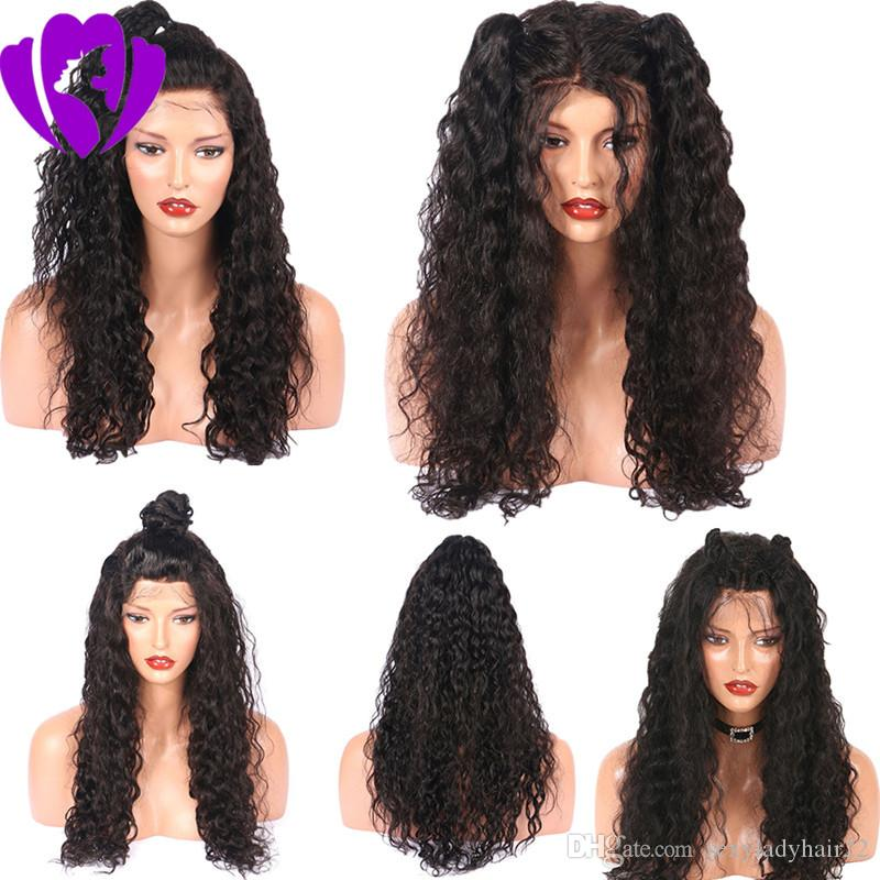 High quality loose curly Lace Front synthetic Wigs black/brown/blonde /burgundy Brazilian Glueless lace Wigs for women with baby hair