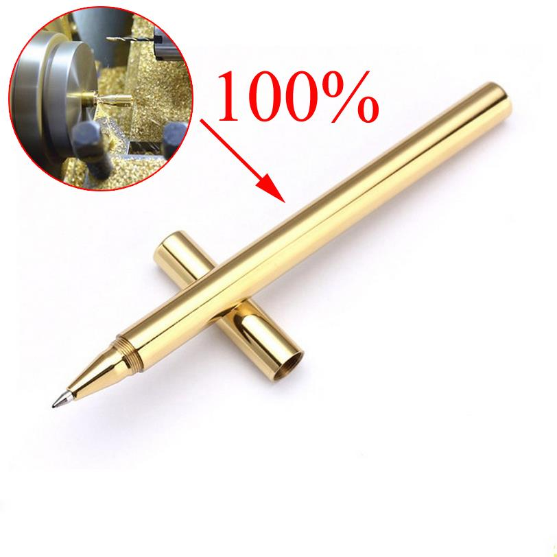High Quality Luxury Gold Optional Minimalism Superfine Ballpoint Pen Pure brass stationery Copper ballpen Writing Office 03639