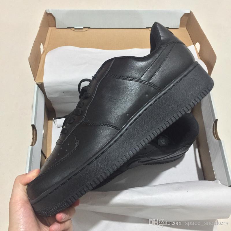 2a1aaad2dc Acquista 2018 Nike Air Force 1 Leather AF1 New Classical 1 Bianco Nero Low  High Uomo Donna Scarpe Da Skateboard Un Numero Di Scarpe 36 46 A $75.69 Dal  ...