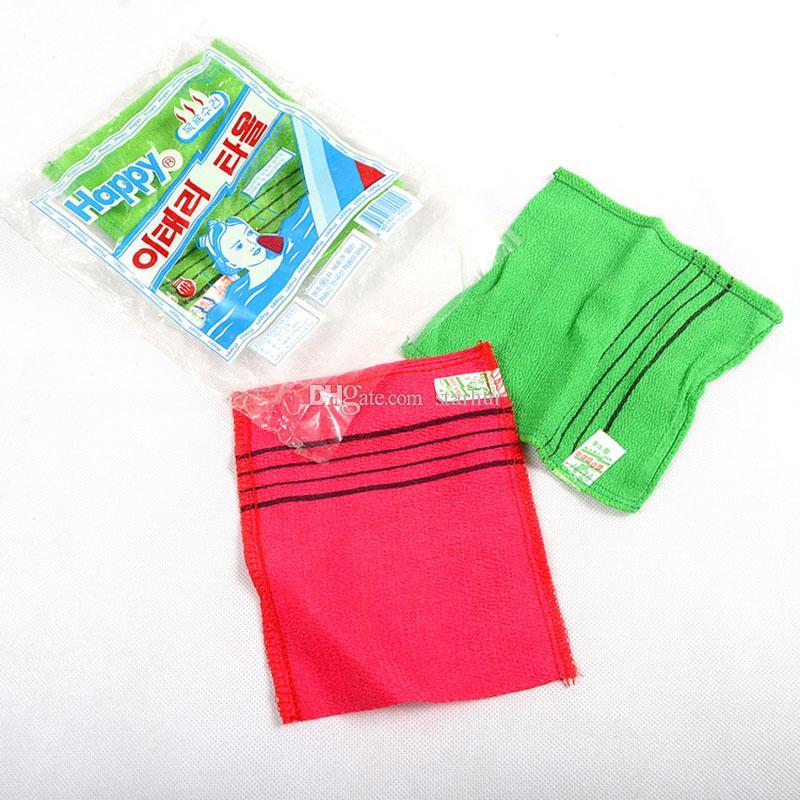 18*12cm Glove Type Double Sided Bath Towel Exfoliating Bath Washcloth Shower Wash Cloths Dead Skin Towel Bathroom Accessories WX9-449