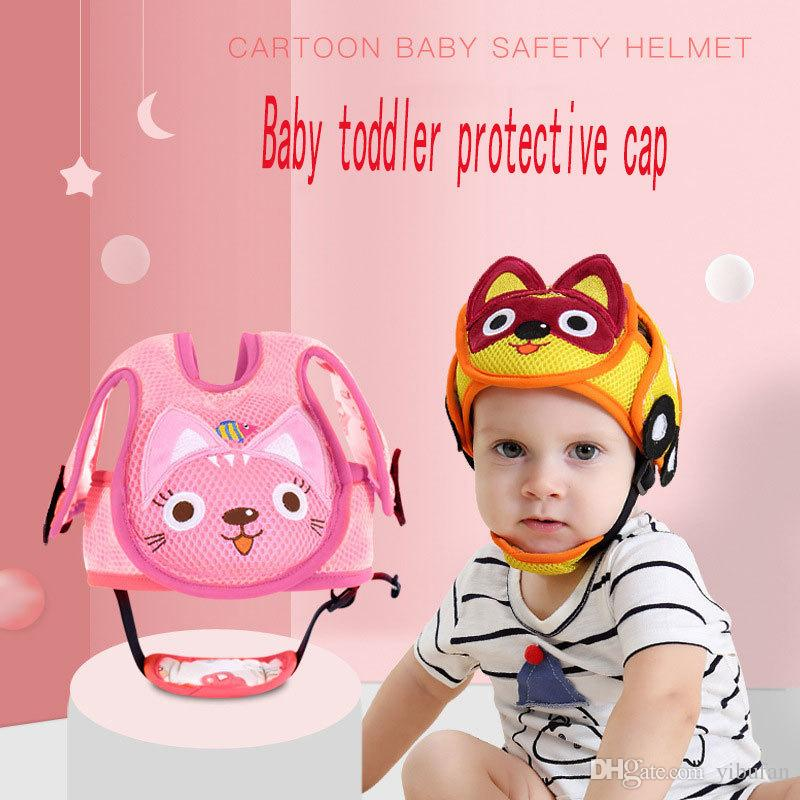 778832d3d Baby New Shatter-resistant Head Cotton Crystal Wool Protection Cap Baby  Toddler Bumper Cap Child Safety Helmet Head Pillow