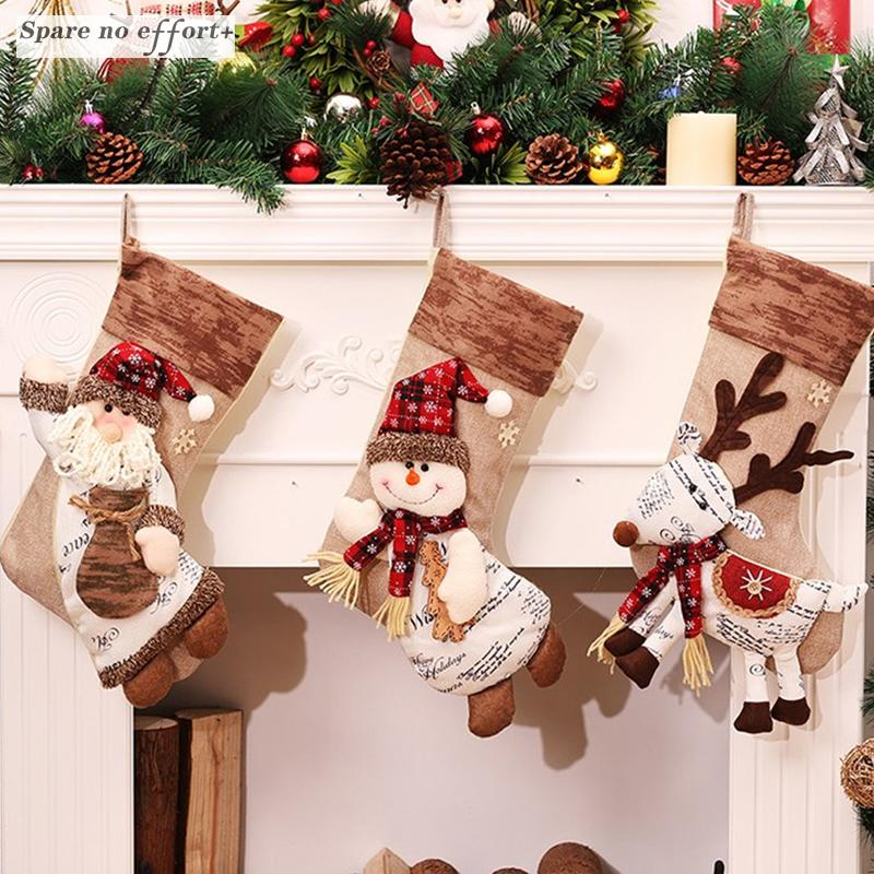 Elegant Christmas Decorations Free 2018 Christmas Stocking Clthes Santa Socks Gift  For New Year Candy Gift Bags For Kids Unique Christmas Decorations Unique  ...
