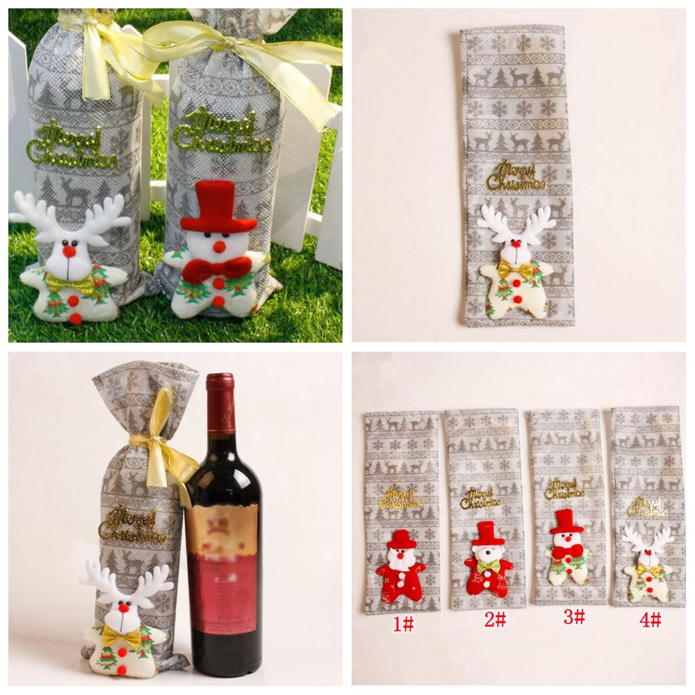 2018 4styles Wine Bags Christmas Cartoon Gift Bag Merry Bar Tools ...