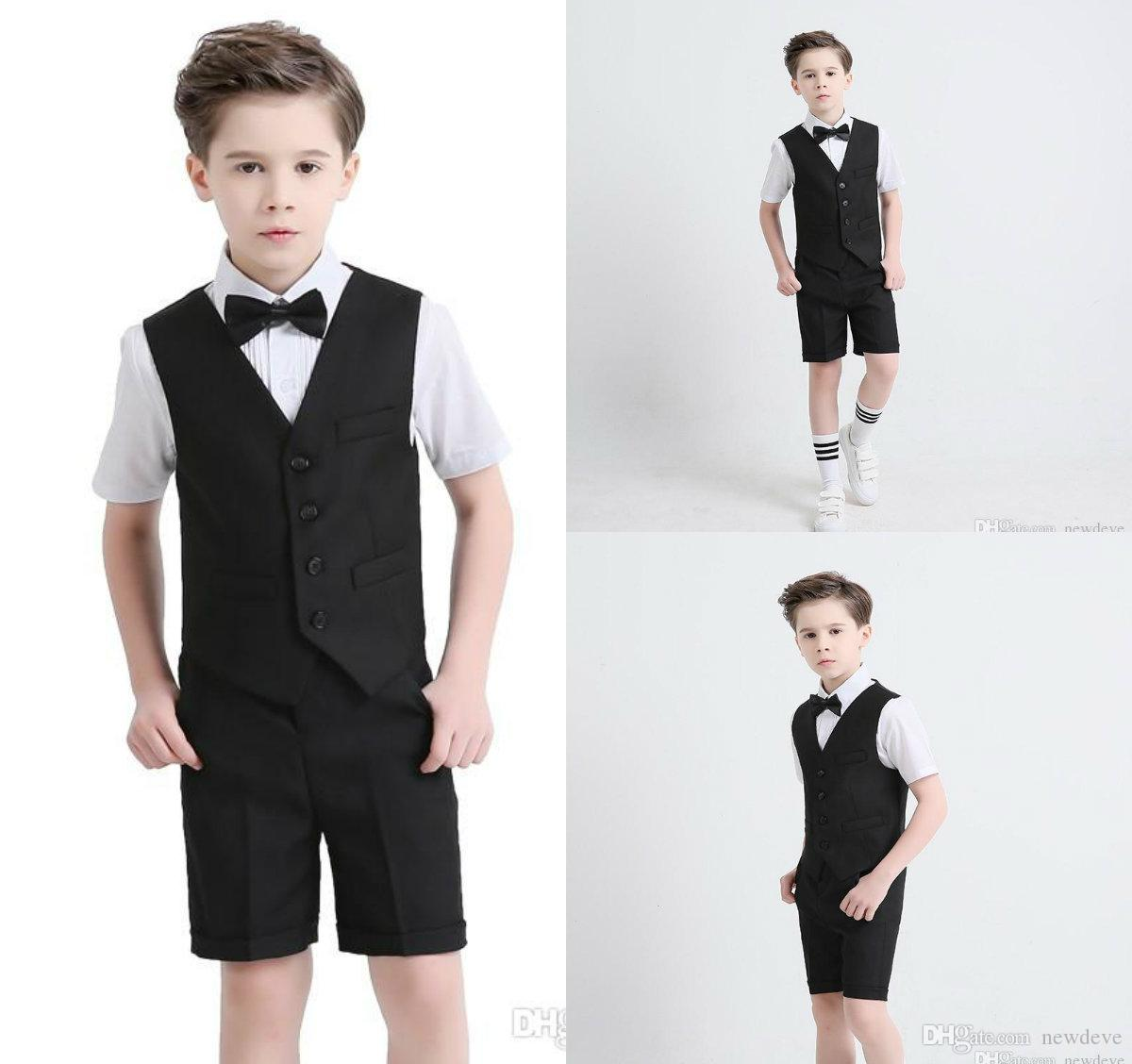 1ec2fb548512 Two PiecesSuit With Notched Lapel Short Sleeve And Pants Boy S Formal Wear  2018 Summer Newest Design Custom Made Suit For Boys Clothes Shop Coats For  Kids ...