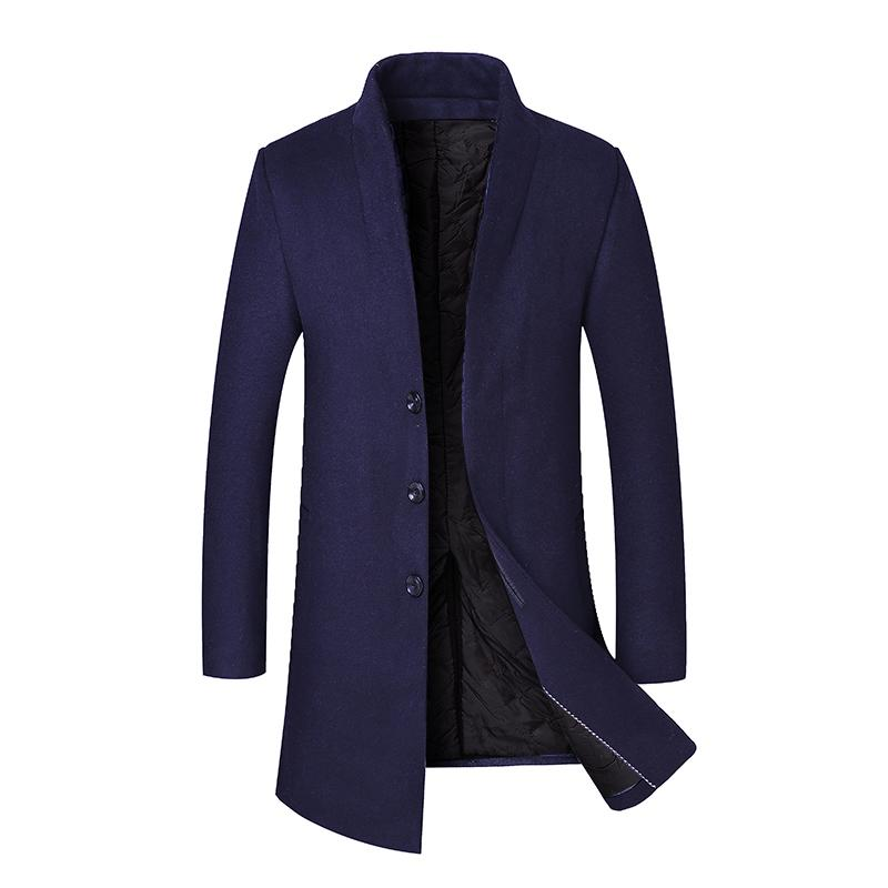 a90f7c4468c91 Men s Woolen Coat Business Down Jacket Trench Topcoat Business Male ...