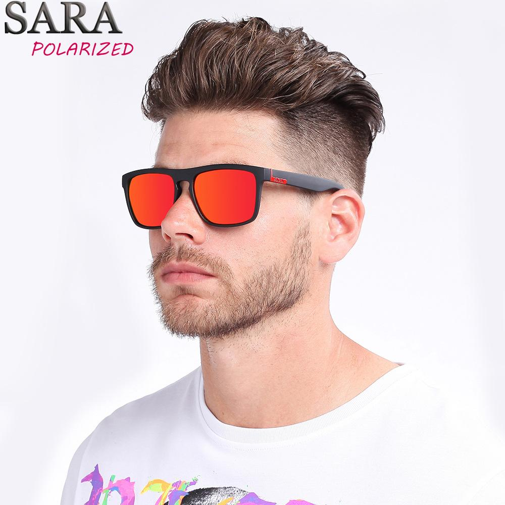 9a640df393 Compre Gafas De Sol Polarizadas Para Hombres Diseño De Marca Recubrimiento  Cuadrado Espejo Gafas UV400 Gafas Hombre Vintage Sombras Al Aire Libre Gafas  De ...